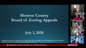 Monroe County Board of Zoning Appeals 7/1