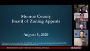 Monroe County Board of Zoning Appeals 8/5